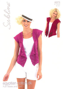 Sublime Pattern 6073: Waistcoat in Egyptian Cotton DK