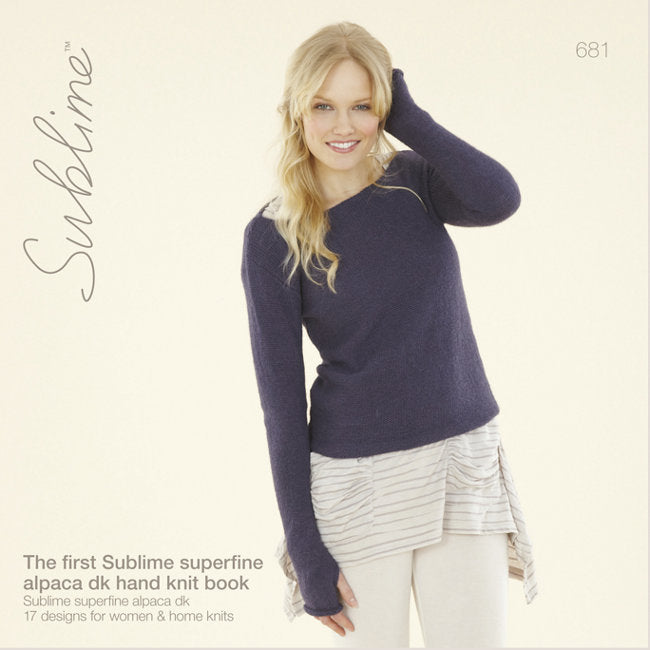 Sublime Booklet 681: 1st Superfine Alpaca DK Hand Knit Book