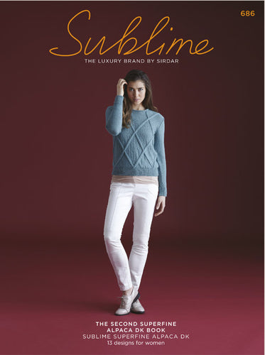 Sublime Booklet 686: The 2nd Superfine Alpaca DK Book
