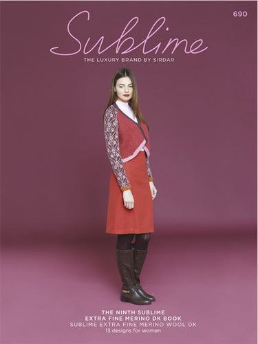 Sublime Booklet 690: 9th Extra Fine Merino Wool DK Book