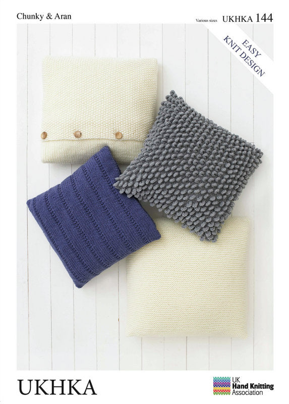 UKHKA Pattern 144:  Cushions in Chunky and Aran