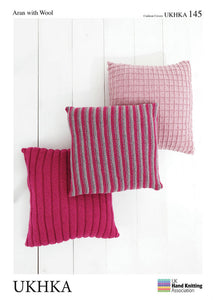 UKHKA Pattern 145:  Cushions in Aran