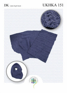 UKHKA Pattern 151: Ladies Top & Snood in DK