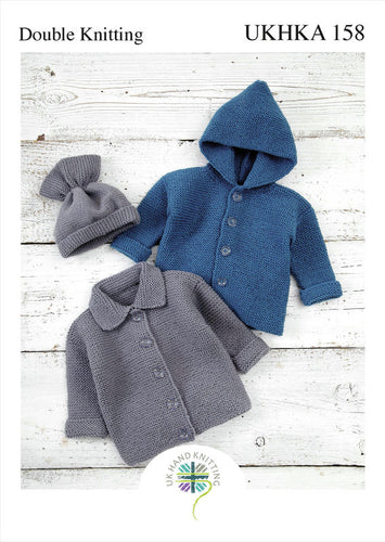 UKHKA Pattern 158: Jacket and Hat in DK