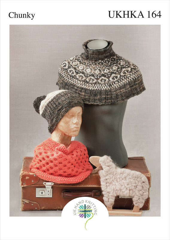 UKHKA Pattern 164: Hat, Cowl and Neck Warmer in Chunky