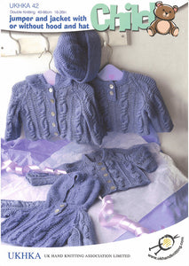 UKHKA Pattern 42: Jumper, Jacket and Hat in DK