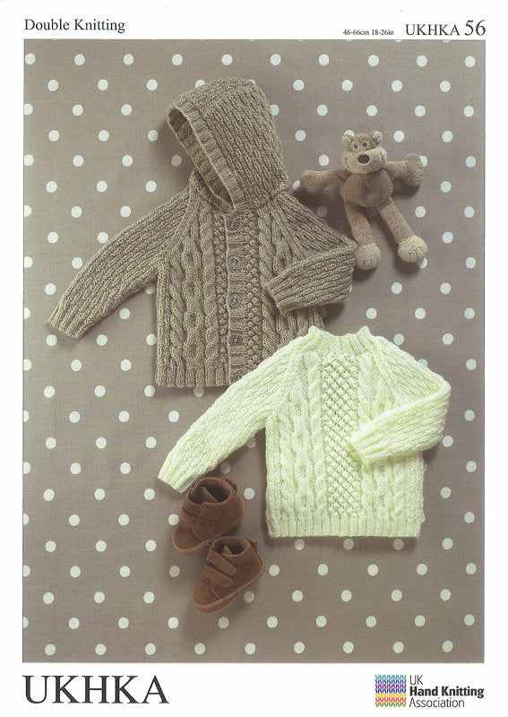 UKHKA Pattern 56: Sweater and Jacket in DK