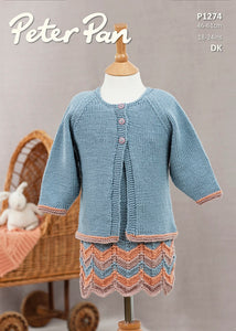Peter Pan Pattern 1274: Dress and Cardigan in DK