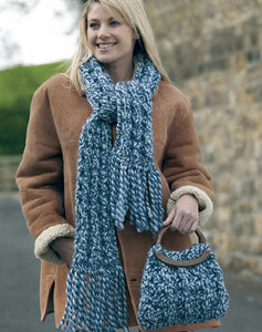 Wendy Pattern 5185: Scarf and Bag in Pampas