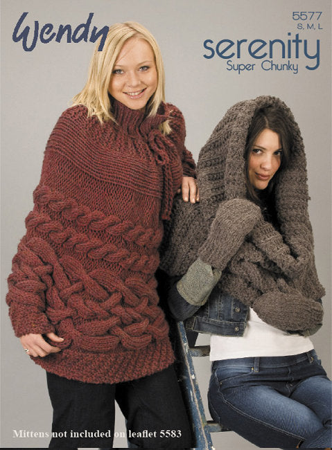 Wendy Pattern 5577: Snood and Cape in Serenity Super Chunky