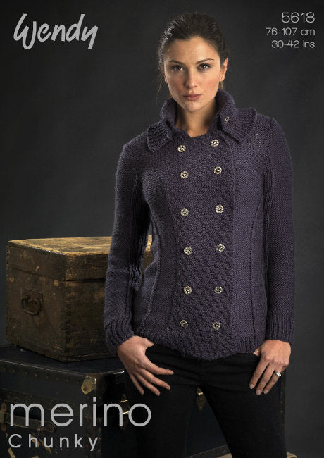 Wendy Pattern 5618: Military Jacket in Merino Chunky