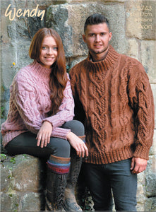 Wendy Pattern 5743: Sweater in Aran with Wool