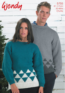 Wendy Pattern 5755: Winter Sweater in Mode Chunky