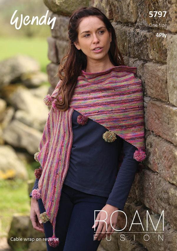 Wendy Pattern 5797: Wrap & Shawl in Roam Fusion 4 Ply