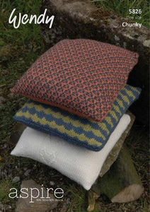 Wendy Pattern 5826: Cushions in Aspire Chunky