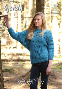 Wendy Pattern 5835: Batwing Sweater in Serenity Chunky