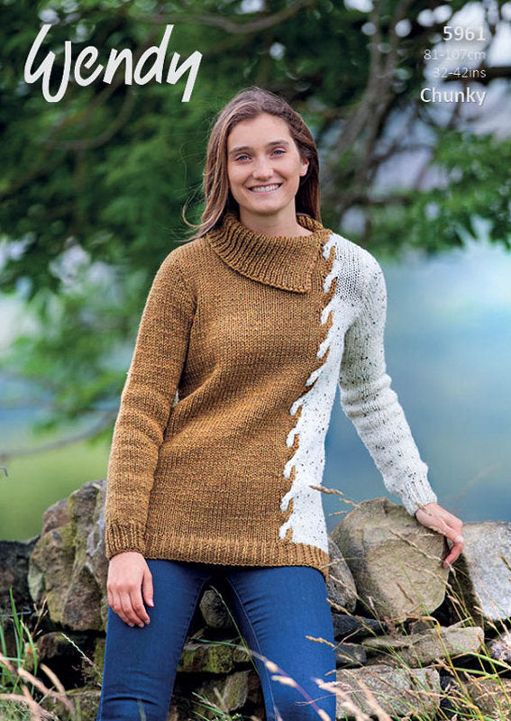 Wendy Pattern 5961: Sweater in Mode Chunky
