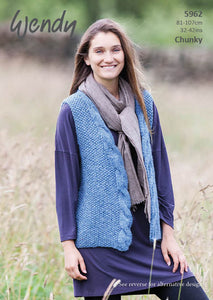 Wendy Pattern 5962: Waistcoats in Serenity & Mode Chunky