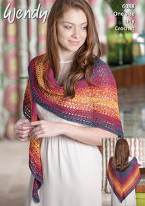 Wendy Crochet Pattern 6088: Shawl in Anaphora