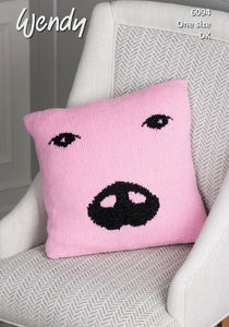 Wendy Pattern 6094: Pig Cushion in Wendy with Wool DK