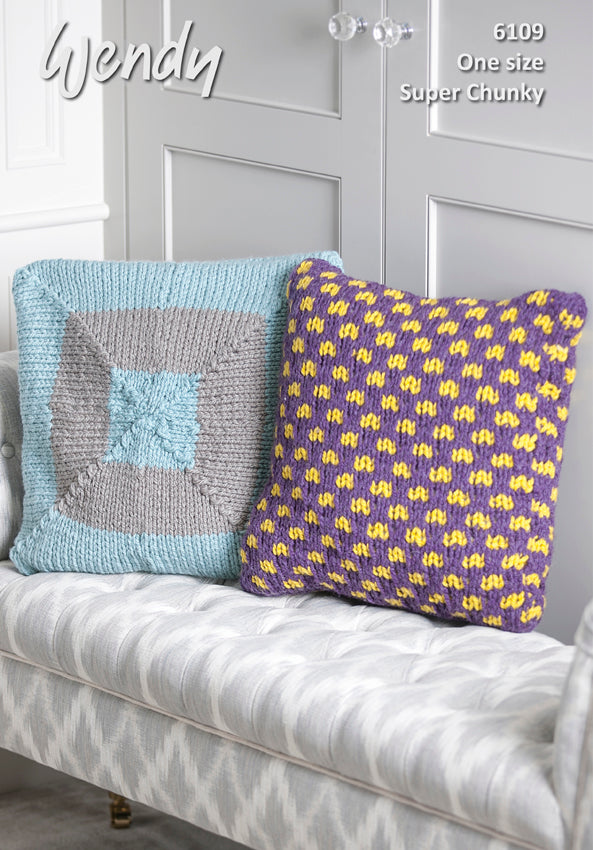 Wendy Pattern 6109: Cushions & Doorstop in Super Chunky
