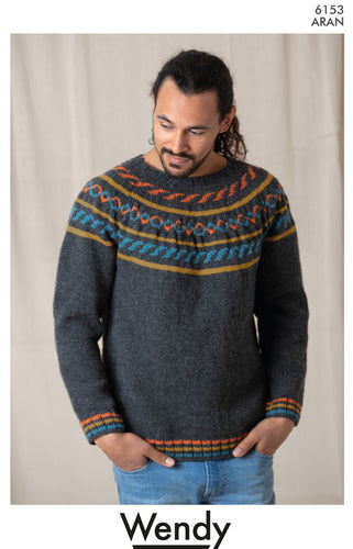 Wendy Pattern 6153: Sweater in Aran with Wool