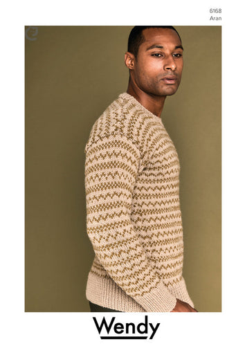 Wendy Pattern 6168: Fair Isle Sweater in Pure Wool Aran