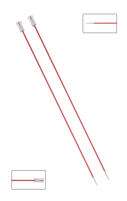 KP47261 Zing 30cm Single Pointed Knitting Needles: 2mm