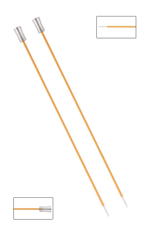 KP47322 Zing 40cm Single Pointed Knitting Needles: 2.25mm
