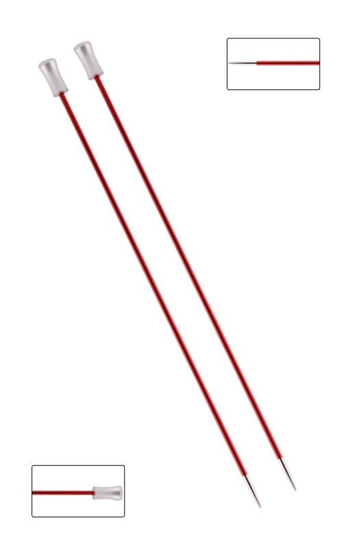 KP47233 Zing 25cm Single Pointed Knitting Needles: 2.5mm