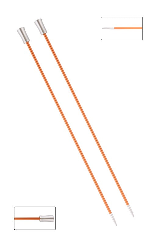 KP47234 Zing 25cm Single Pointed Knitting Needles: 2.75mm