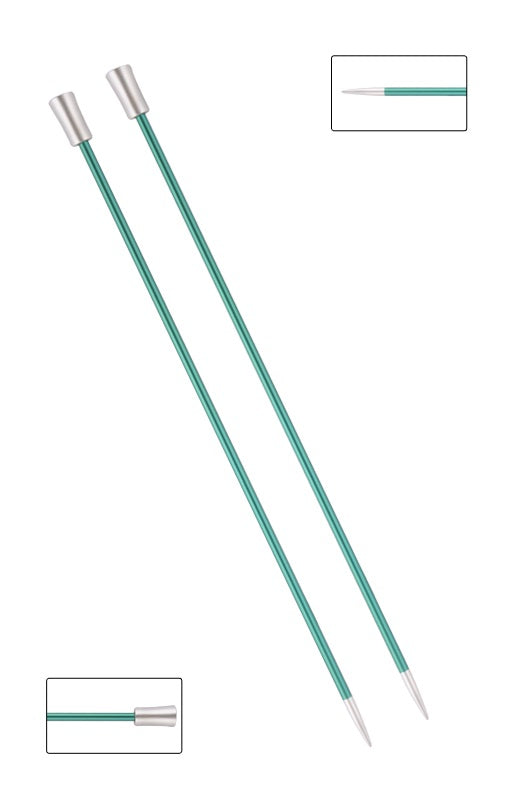 KP47236 Zing 25cm Single Pointed Knitting Needles: 3.25mm