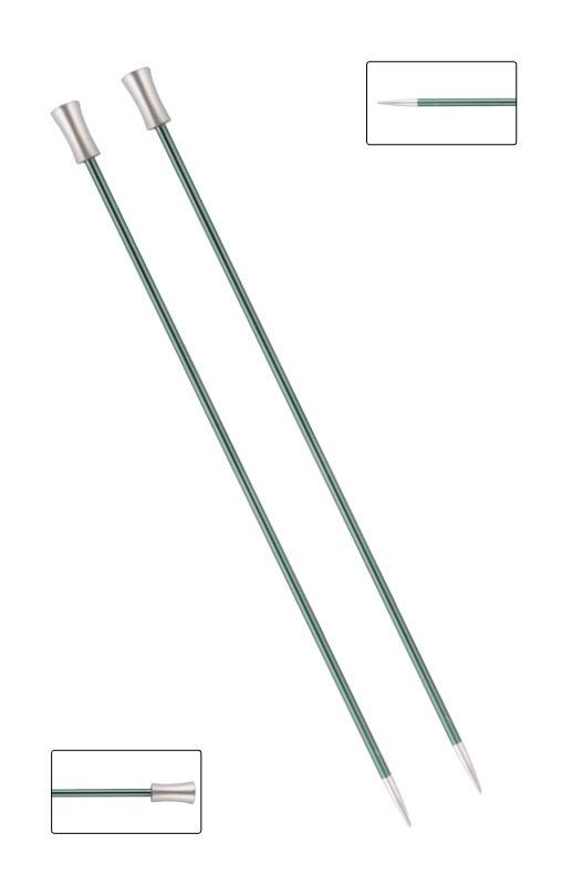 KP47295 Zing 35cm Single Pointed Knitting Needles: 3mm