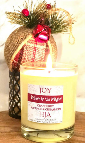 Christmas Joy 100% Soy Wax Candle