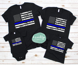 Thin Blue Line Flag (Adult)