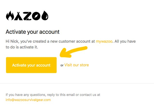 Step five of wazoos new website account recovery