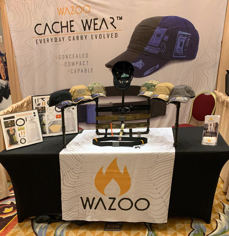Wazoo Shot Show booth at the 2020 Pop-up Preview