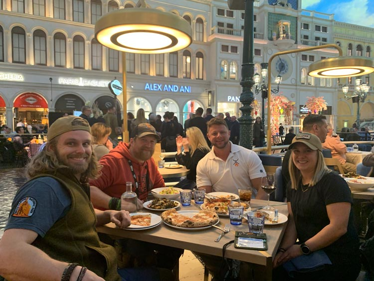 Dining in vegas with friends