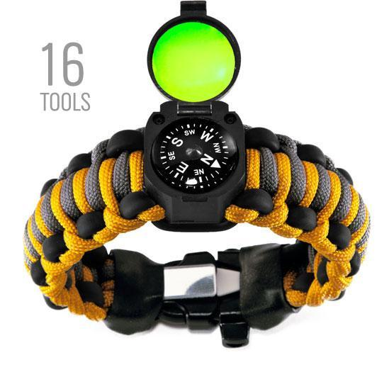 16 tool survival kit on your wrist Adventure paracord bracelet