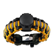 Adventure paracord survival bracelet with compass lid closed