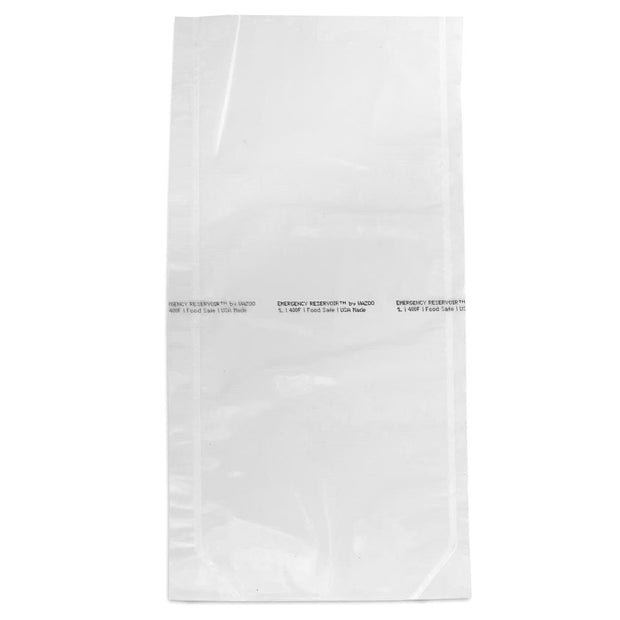 Wazoo Emergency Reservoir survival water bag laid flat on white background