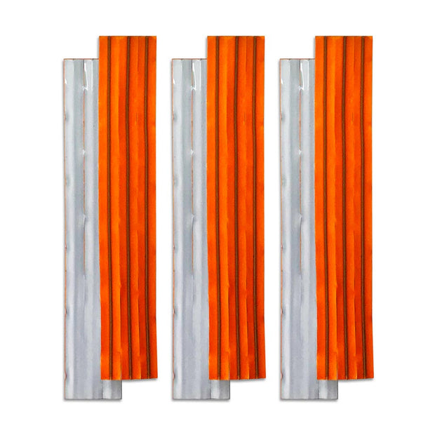 Trail marker limb lights with reflective and neon orange for night time and daytime visibility