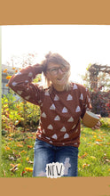 Load image into Gallery viewer, Boho Triangles on Rust Sweatshirt