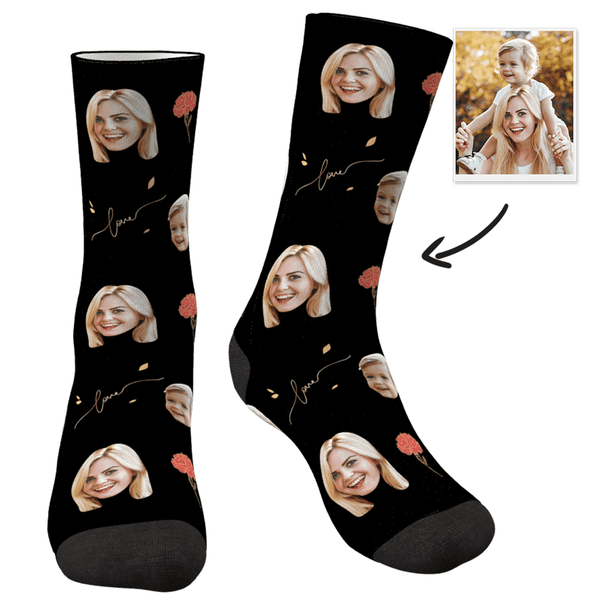 Custom Photo Socks Love - MyFaceSocksJP