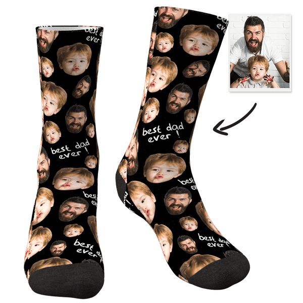 Custom Face Socks For The Best Dad-MyPhotoboxer