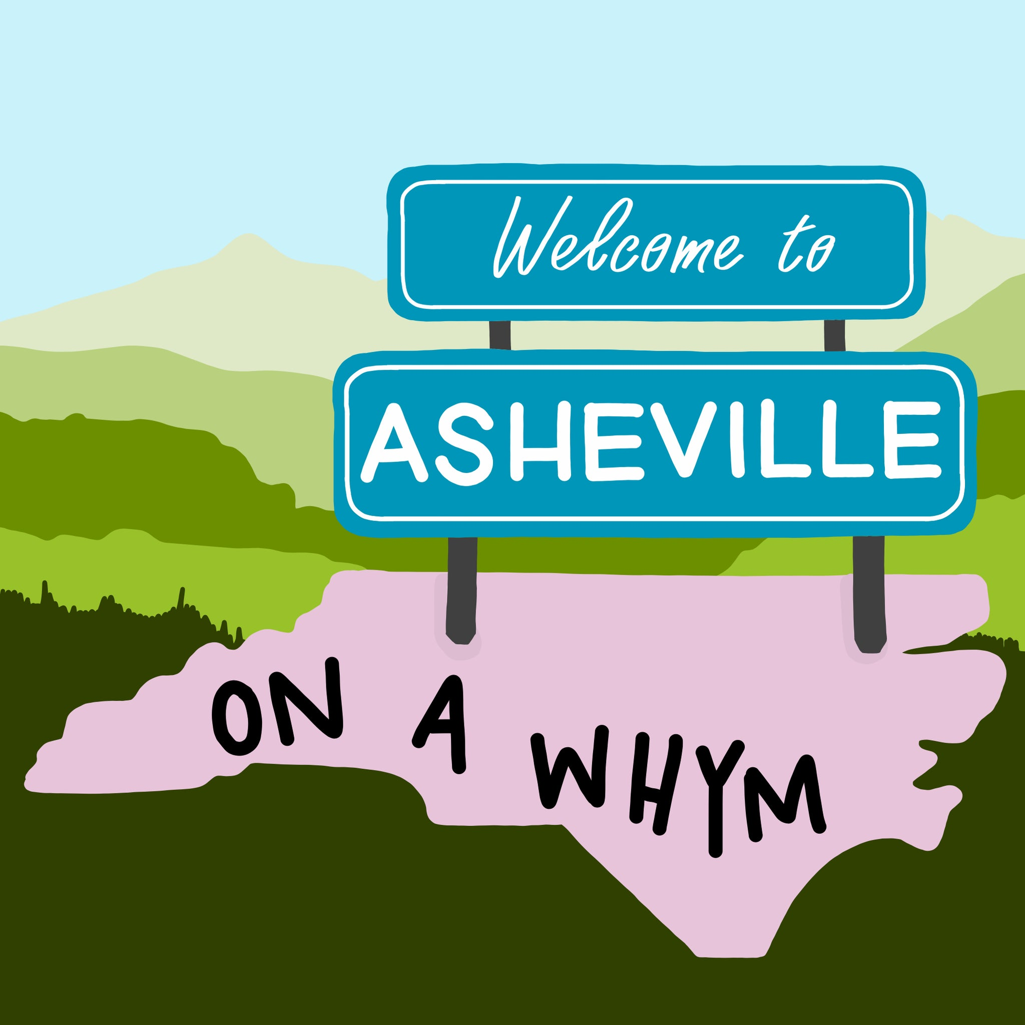 Whym to Asheville Cartoon