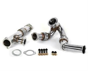 DieselSite Bellowed Up-Pipes W/Passenger Side | 04.5-07 6.0L