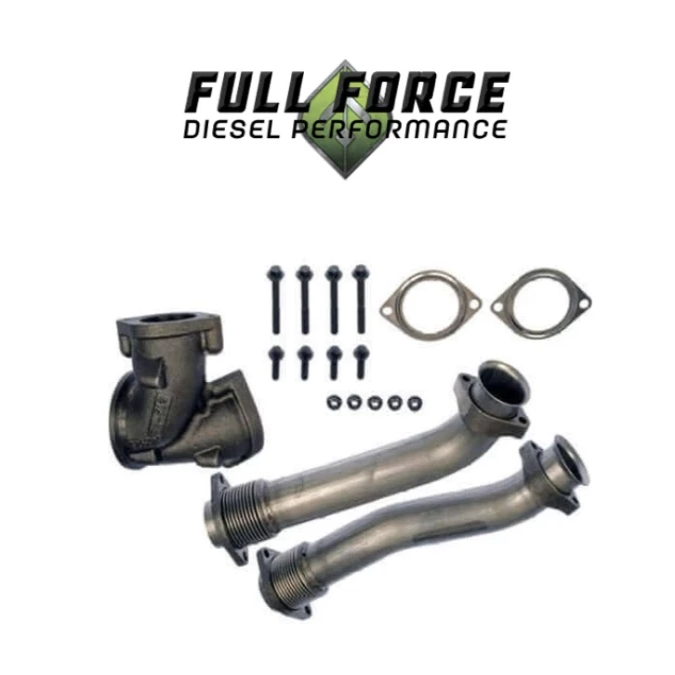 Full Force Bellowed Up-Pipes | 99.5-03 7.3L