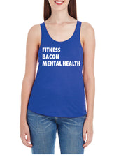 Allan Eilts Fitness Bacon Mental Health Ladies Racerback Tank-Boxstar Apparel