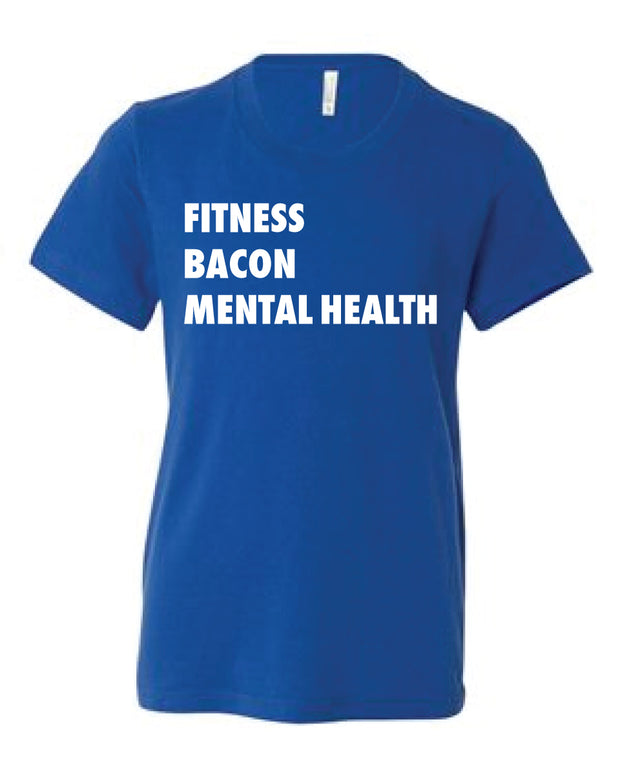 Allan Eilts Fitness Bacon Mental Health Youth Tee-Boxstar Apparel